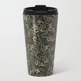 Four camouflage letters Travel Mug