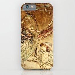 Arthur Rackham - Fouqué - Undine (1909) - The Infancy of Undine iPhone Case