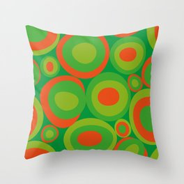 Bubbleroom in red and green Throw Pillow