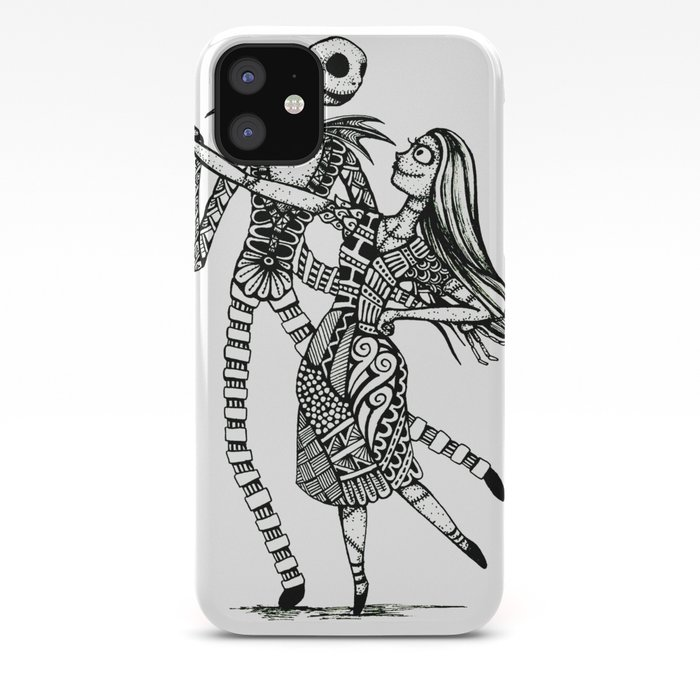 Jack and Sally Kissing iphone case