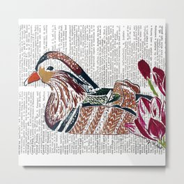 Hot Duck Metal Print