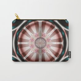 Pinwheel Hubcap in Pink Carry-All Pouch
