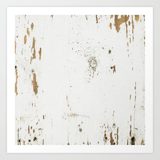 Vintage White Wood Art Print