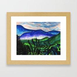 Vermont Mountains Framed Art Print