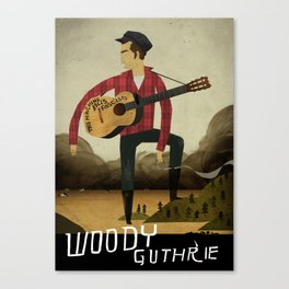 Woody Guthrie Canvas Print
