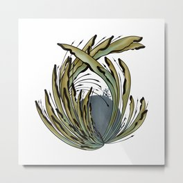Modern Tropical Plant Design for Nature Lovers Metal Print