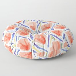 Sanguine Sway Persimmon Floor Pillow