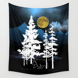 Full Moon Rising II Wall Tapestry