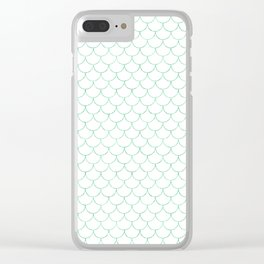 Mermaid Scales in Green Clear iPhone Case