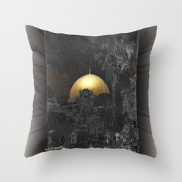 Dome of the Rock Throw Pillow