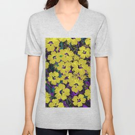 Flowers Pattern 5 DZ Unisex V-Neck