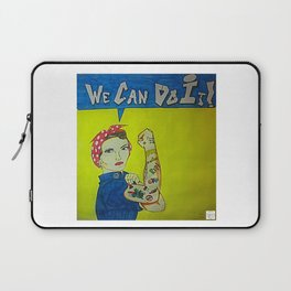 Modern Rosie the Riveter Laptop Sleeve