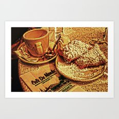 Coffee and Beignets at the Cafe du Monde Art Print