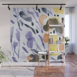 Yellows and purples in watercolor Wall Mural