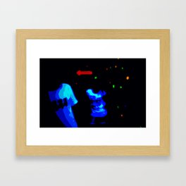 You can run, but you can't hide Framed Art Print