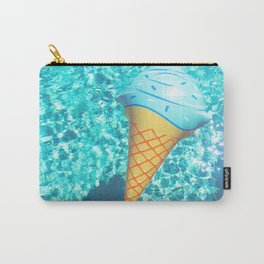 blue ice cream cone float all up in my pool yo Carry-All Pouch