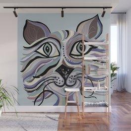 Denim Cat Wall Mural