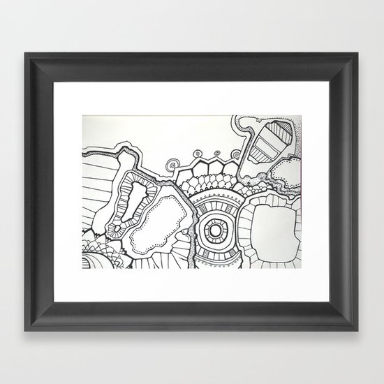 pen and ink hallucination Framed Art Print