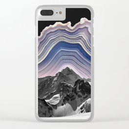 Agate Mountains Clear iPhone Case