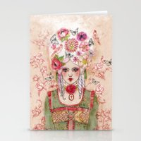 marie antoinette Stationery Cards featuring Marie-Antoinette by Minasmoke