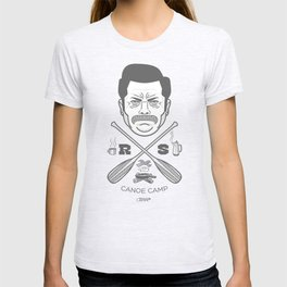 Ron Swanson Canoe Camp (clean gray variant) T-shirt