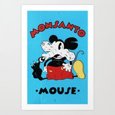 Monsanto Mouse Art Print