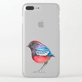 Bird: Garnet Pitta Clear iPhone Case
