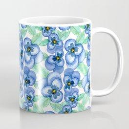 Group of Blue Pansies Coffee Mug