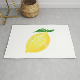 Squeeze the day lemon art Rug