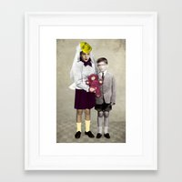 bride Framed Art Prints featuring Bride by Momenti Riciclati