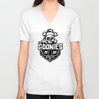the goonies V-neck T-shirts featuring The Goonies black by Buby87