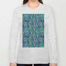 Crystal Shards in Oil Slick Rainbow Aura Long Sleeve T-shirt