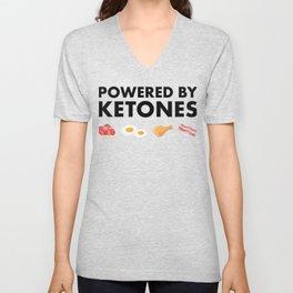 Powered by Ketones - Keto Diet Unisex V-Neck