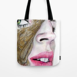 feather's eye Tote Bag