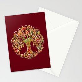 Tree of Life Maroon Stationery Cards