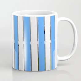 Nautical pattern with striped blue and white design. Coffee Mug