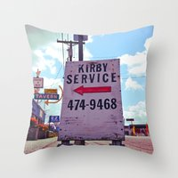 kirby Throw Pillows featuring Kirby Service by Vorona Photography