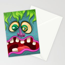 Blue Monster Stationery Cards