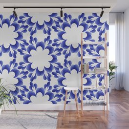 Ornament blue Wall Mural