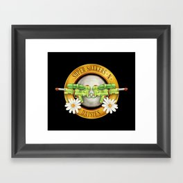Super Soakers n Daisies Framed Art Print