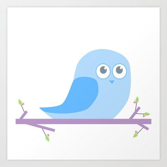 Bird on a branch go Hoot; Art Print
