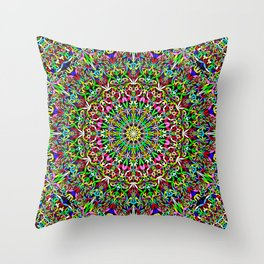 Happy Jungle Mandala Throw Pillow