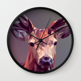 Abstract geometric deer art Wall Clock