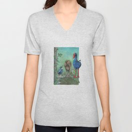 The legend of the Kiwi, illustration, Maori tale, New Zealand Unisex V-Neck