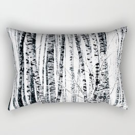 Birch Trees In Winter Rectangular Pillow