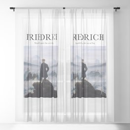 Friedrich - Wanderer Above the Sea of Fog Sheer Curtain