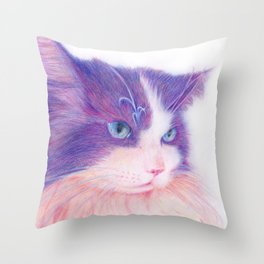 miwa cat 2 ~fred~ Throw Pillow
