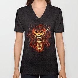 Halloween Pumpkin King (Lord O' Lanterns) Unisex V-Neck