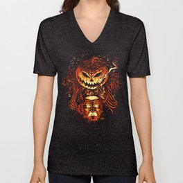Halloween Pumpkin King (Lord O' Lanterns) Unisex V-Neck
