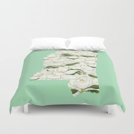 Mississippi in Flowers Duvet Cover